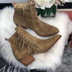 Paul Green | Womens west fringe ankle boots sz 6